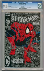 Spider-man #1 Silver Variant (1990) CGC 9.8 Todd McFarlane Marvel comic book